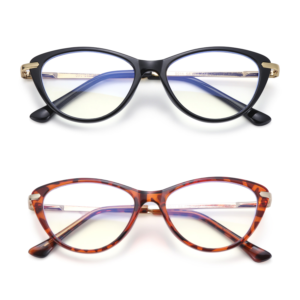 ROW Women & Men Computer Glasses Non-Prescription Eyeglasses Blue Light Blocking Glasses Fashion Reading Gaming Anti Eye Eyestrain Oval Frame...