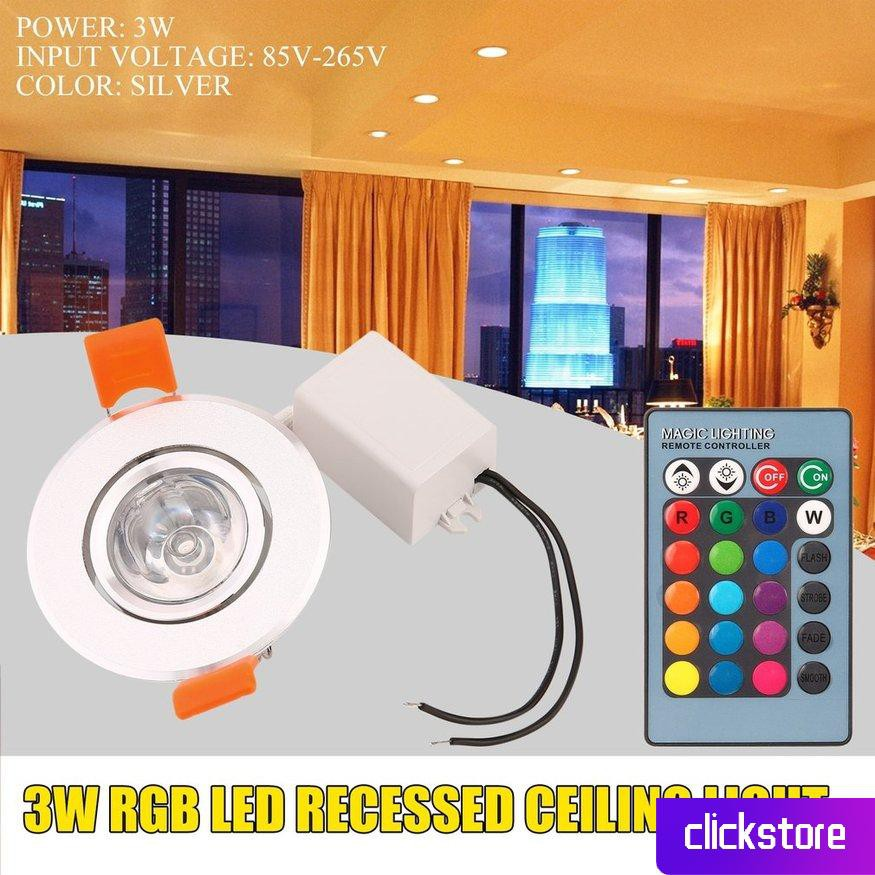 Đèn led 3w Rgb gắn trần nhà chuyên dụng