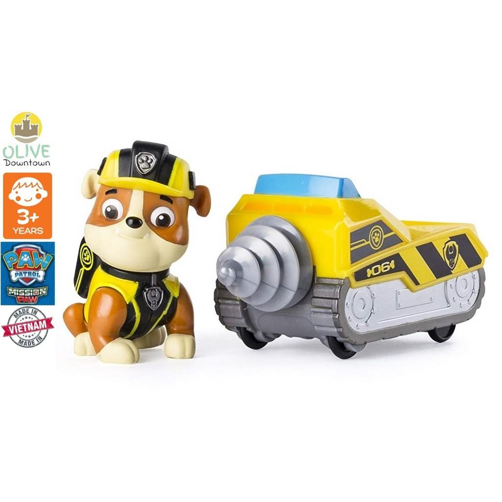 [ComboDeal] Bộ chó rời RUBBLE + xe mũi khoan mini TẶNG xe Rubble nhỏ phim Những chú chó cứu hộ...