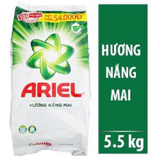 Bột giặt Ariel nắng mai, giữ màu, downy 5kg