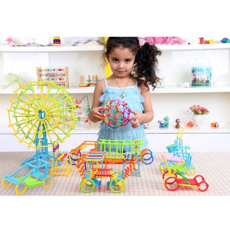 Bộ đồ chơi que xếp hình 600 chi tiết cho bé - 2510387 , 644464814 , 322_644464814 , 85000 , Bo-do-choi-que-xep-hinh-600-chi-tiet-cho-be-322_644464814 , shopee.vn , Bộ đồ chơi que xếp hình 600 chi tiết cho bé