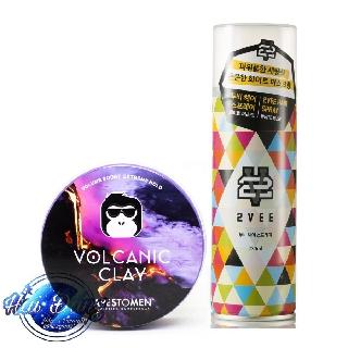 [COMBO] [TẶNG LƯỢC] Gôm xịt tóc 2Vee Spray 230ml Hàn Quốc + Sáp Apestomen Volcanic Clay 80ml năm 2020