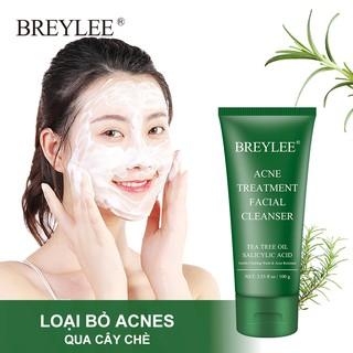 Hình ảnh Sữa rửa mặt BREYLEE cải thiện da mụn đầu đen kiềm dầu làm sạch da 100g-1