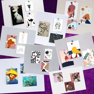 (set 3ảnh tặng sticker) BỘ ẢNH TRANG TRÍ dán tường decor phòng, góc học tập, bàn làm việc.