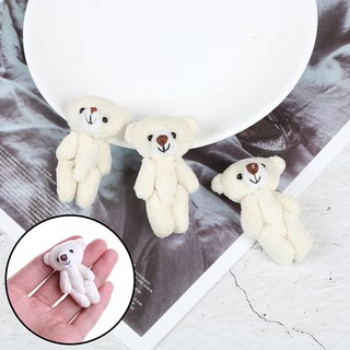 2pcs 1:12 Scale mini bear for toy doll dollhouse living room accessories