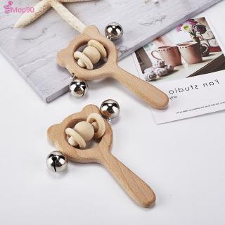Baby puzzle early teaching hand rattle animal shape cartoon baby grasping children wooden toys [MOP]