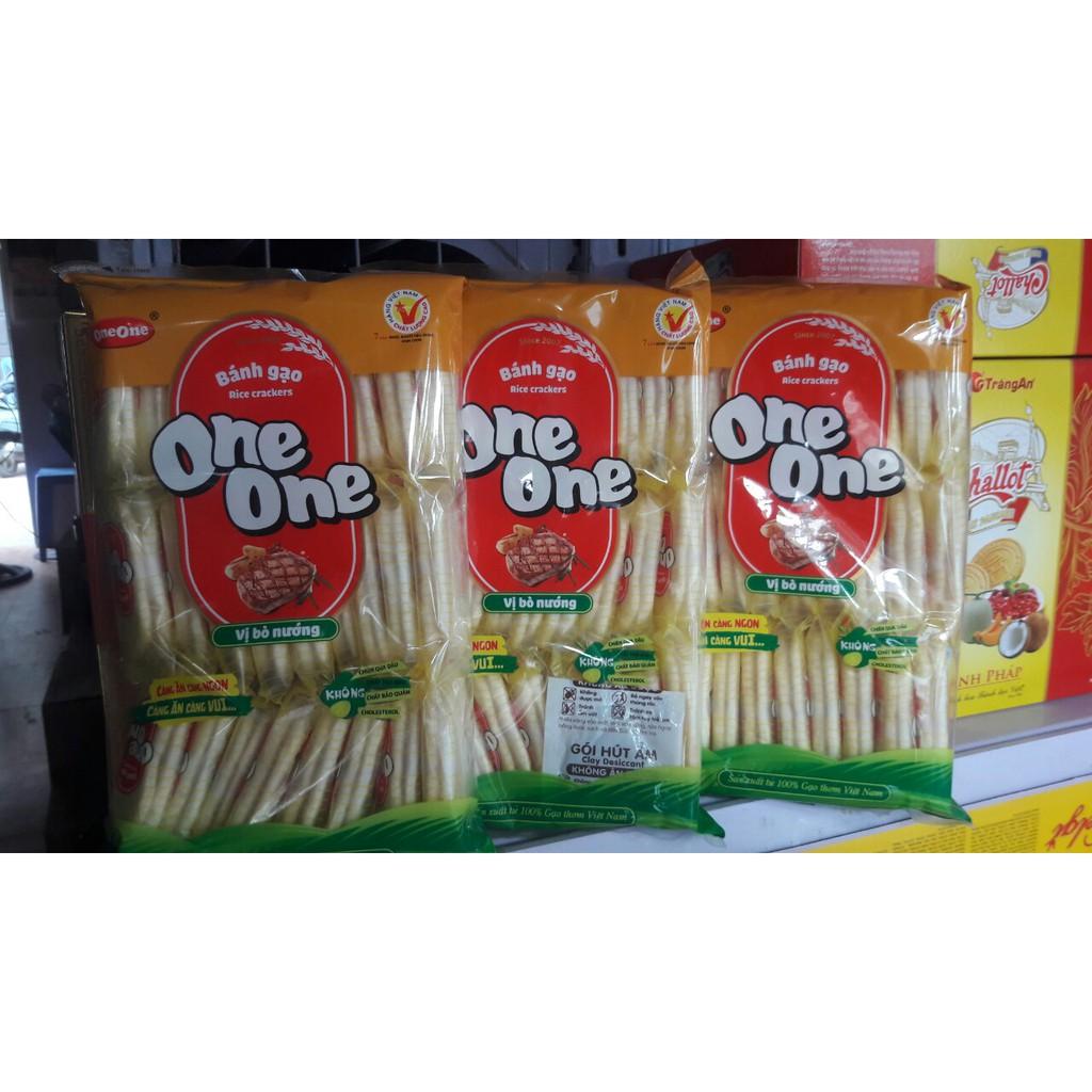 Combo 3 Gói Bánh Gạo One One Vị Bò Nướng 150g