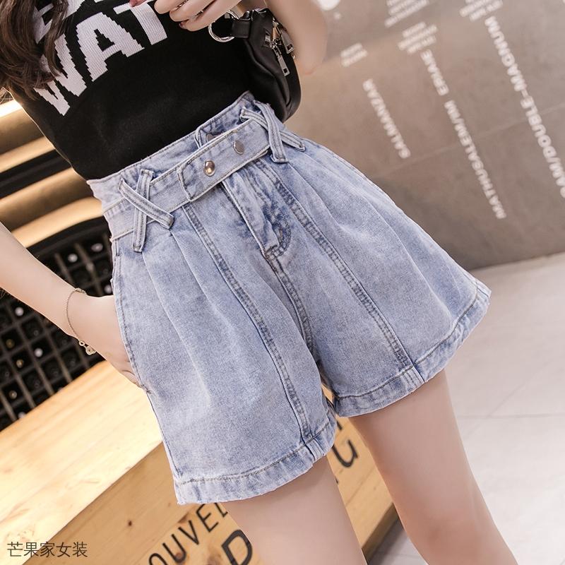 Quần Short Denim Lưng Cao Thời Trang Mùa Hè Dành Cho Nữ