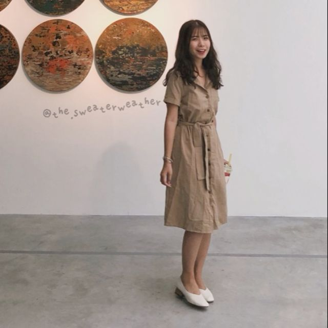 Váy sơ mi buộc eo dáng dài - 9997207 , 1320326761 , 322_1320326761 , 250000 , Vay-so-mi-buoc-eo-dang-dai-322_1320326761 , shopee.vn , Váy sơ mi buộc eo dáng dài