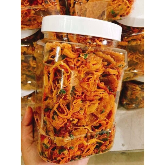 1,5 kg cơm cháy lắc khô gà (1 hủ 500 gram)