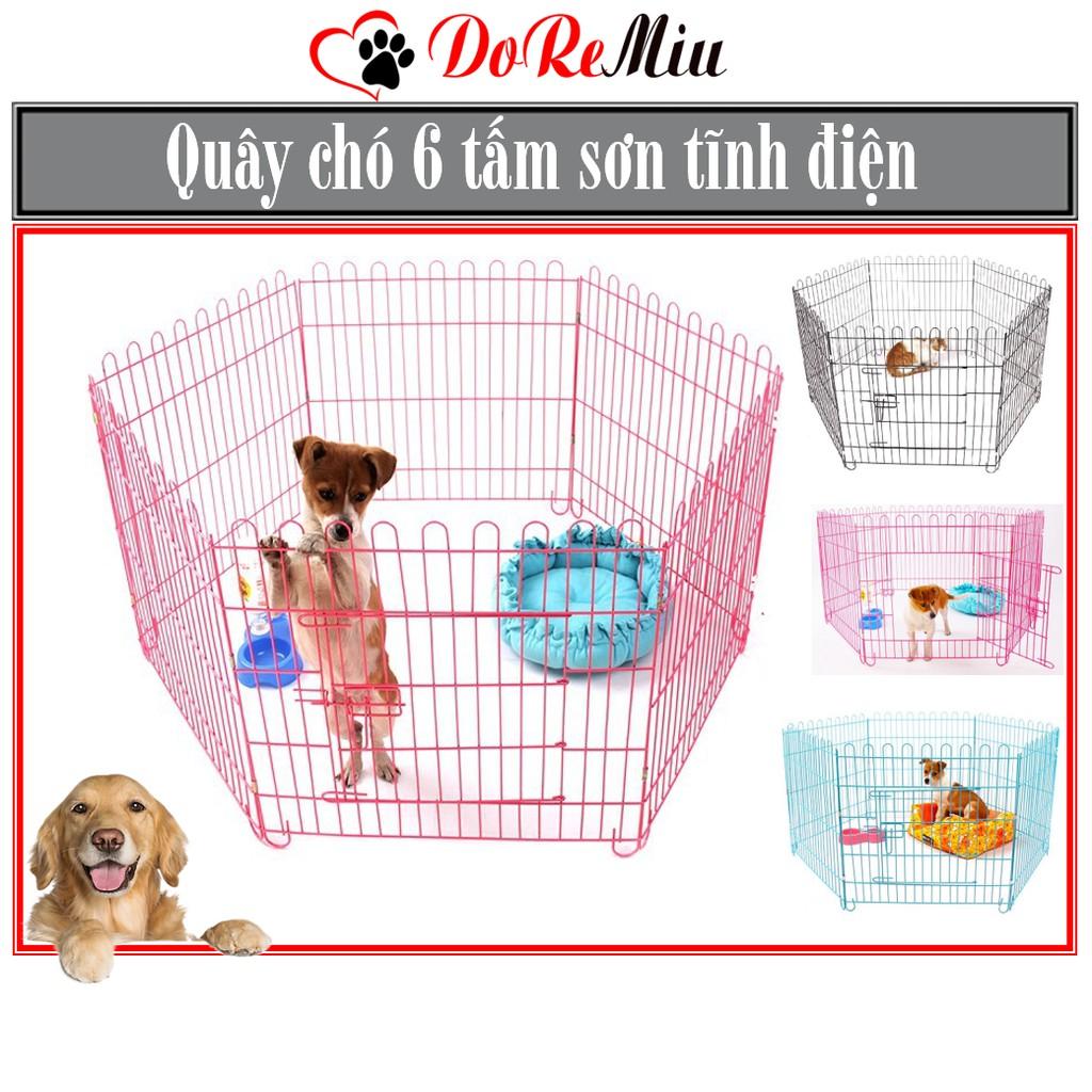 Hàng rào / Cũi chó / Quây chó màu trắng phủ inox chống gỉ (6 tấm 60x60) - hanpet 501|Xanh