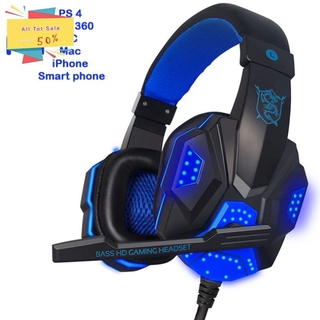 Wired Gaming Headset Headphone for PS4 Xbox One Nintend Switch iPad PC