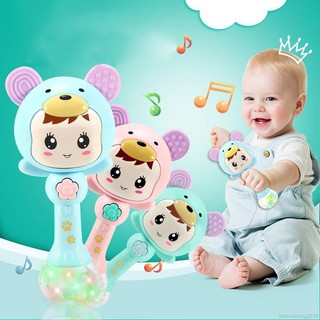 Baby Shaker Sand Hammer Toy Baby Light Rattles Bell Musical Instrument Toys