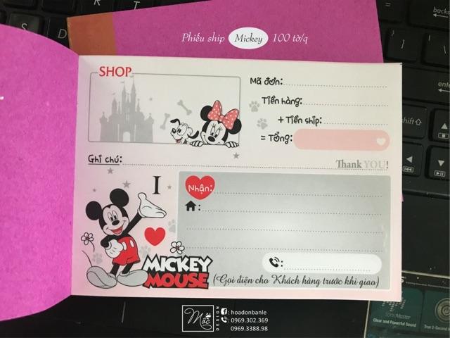 Phiếu ship hàng Mickey