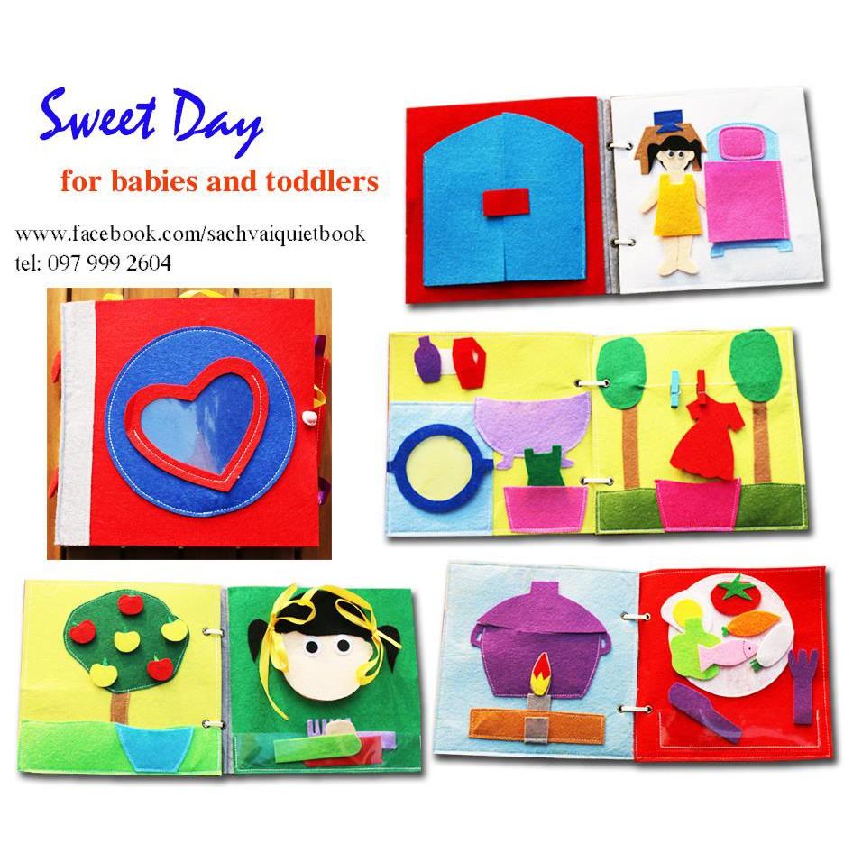 """Sách vải """"Sweet Day"""" cho bé"""