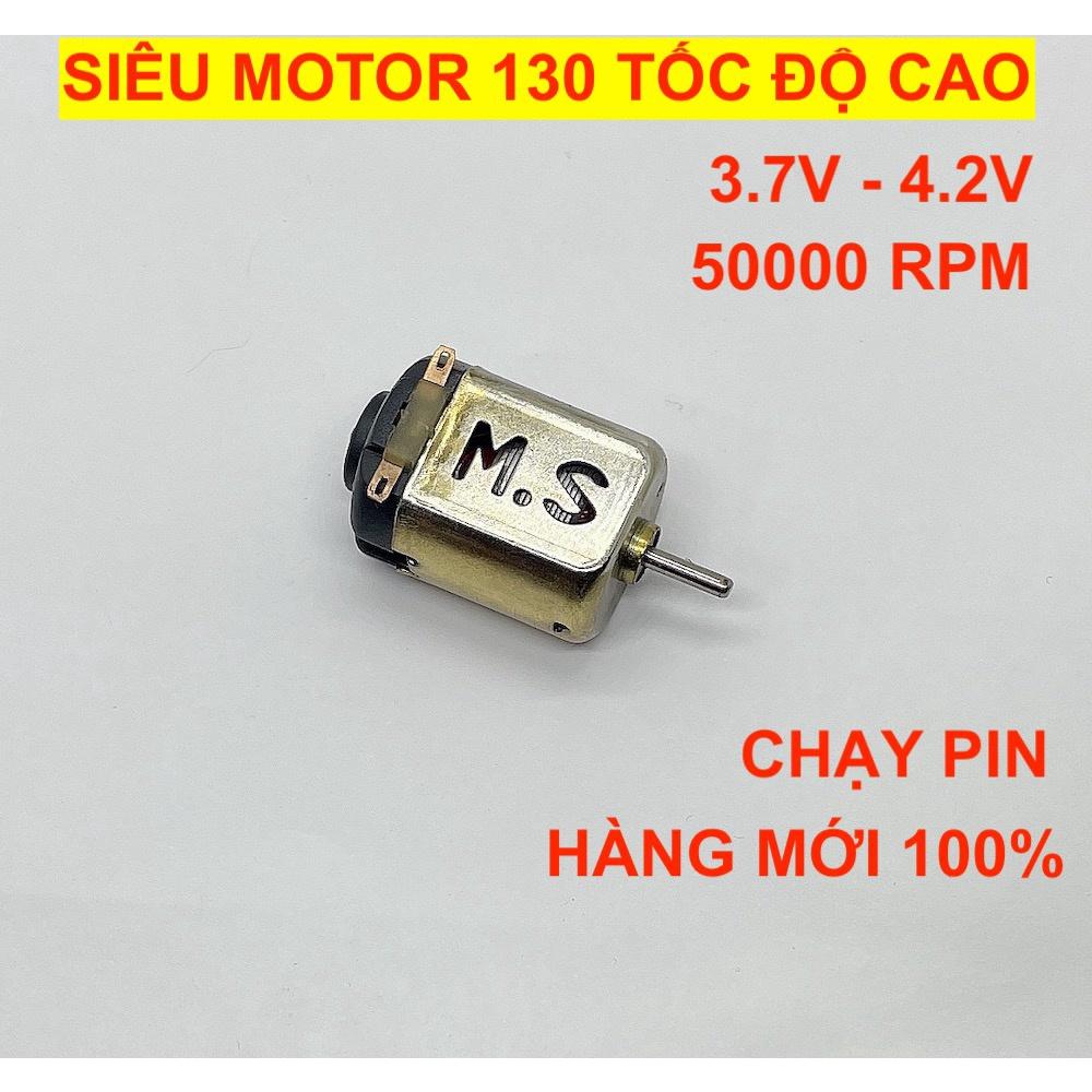 Siêu motor 130 tốc độ cực cao 50000 RPM điện áp 3.7V dùng pin RC cho xe mô hình – LK0383