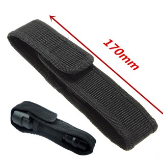 Túi đựng đèn pin màu đen bằng vải ni lông có dây đeo tiện dụng thumbnail