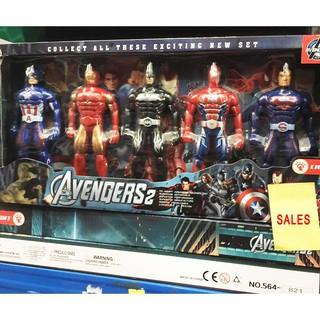 Bộ đồ chơi 5 siêu anh hùng Avengers – Có Khớp Cử Động – [vietshop24h]