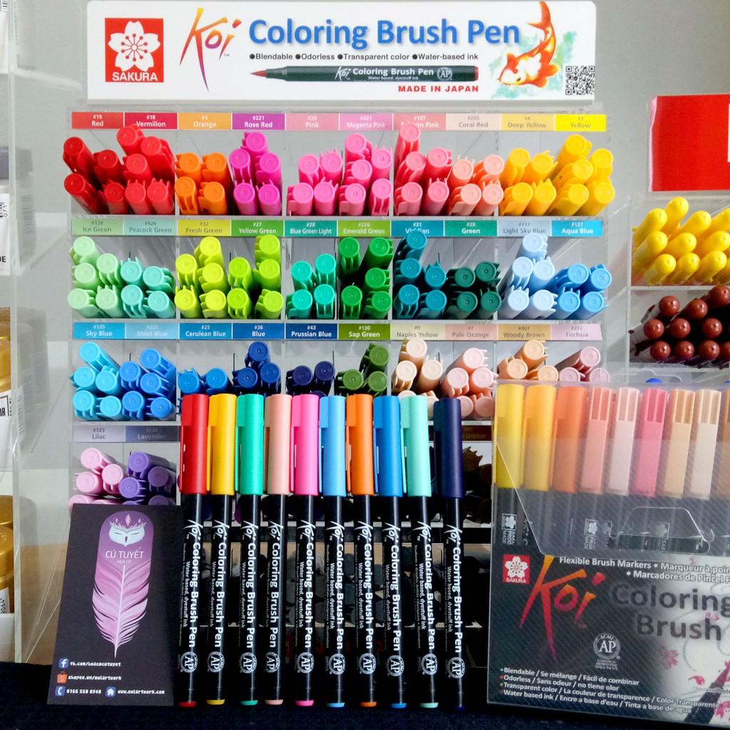 [CHÍNH HÃNG] Cây Lẻ P3 - Bút Cọ Màu Nước Koi Sakura - Coloring Brush Pen