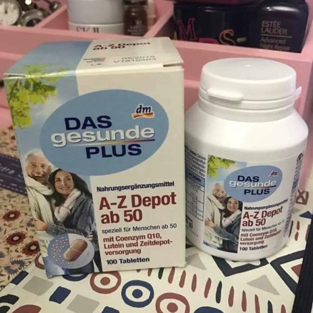 Vitamin tổng hợp Das Gesunde Plus A-Z Depot ab50
