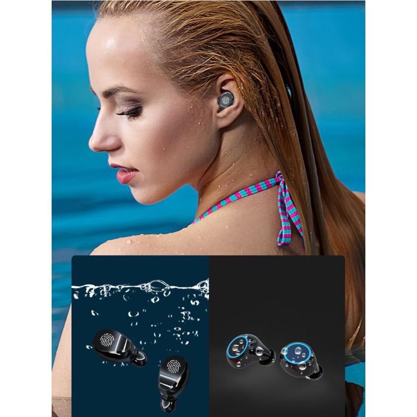 Tai nghe bluetooth 5.0 kén sạc dung lượng 3500 kiêm sạc dự phòng âm thanh HD