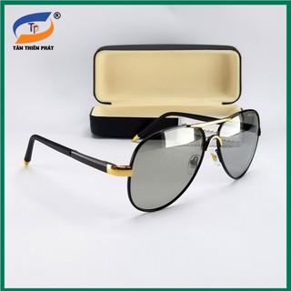 Mắt kính nam đổi màu dùng cả ngày và đêm – Kính mát tròng kính trong suốt, chống tia UV, form ôm mặt – Bảo hành 12 tháng