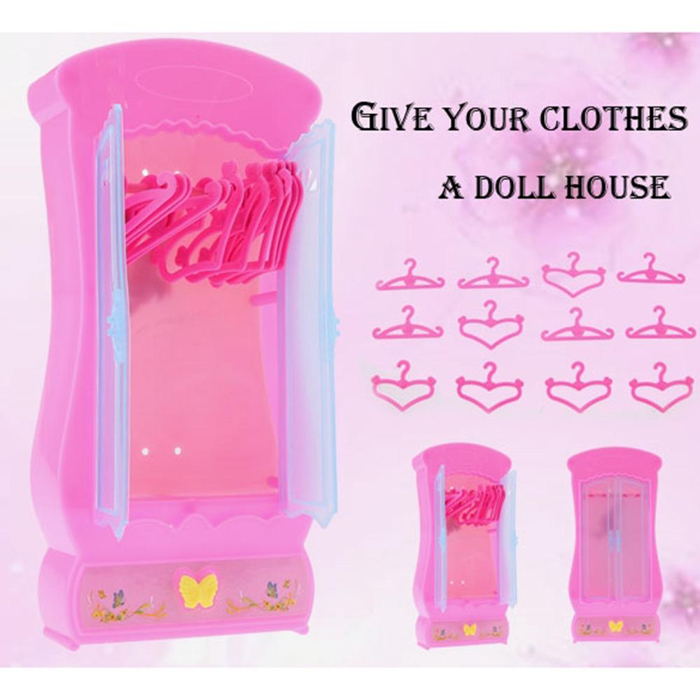 New Children Kid Girl's Cute Lovely Toy Furniture Wardrobe Closet New