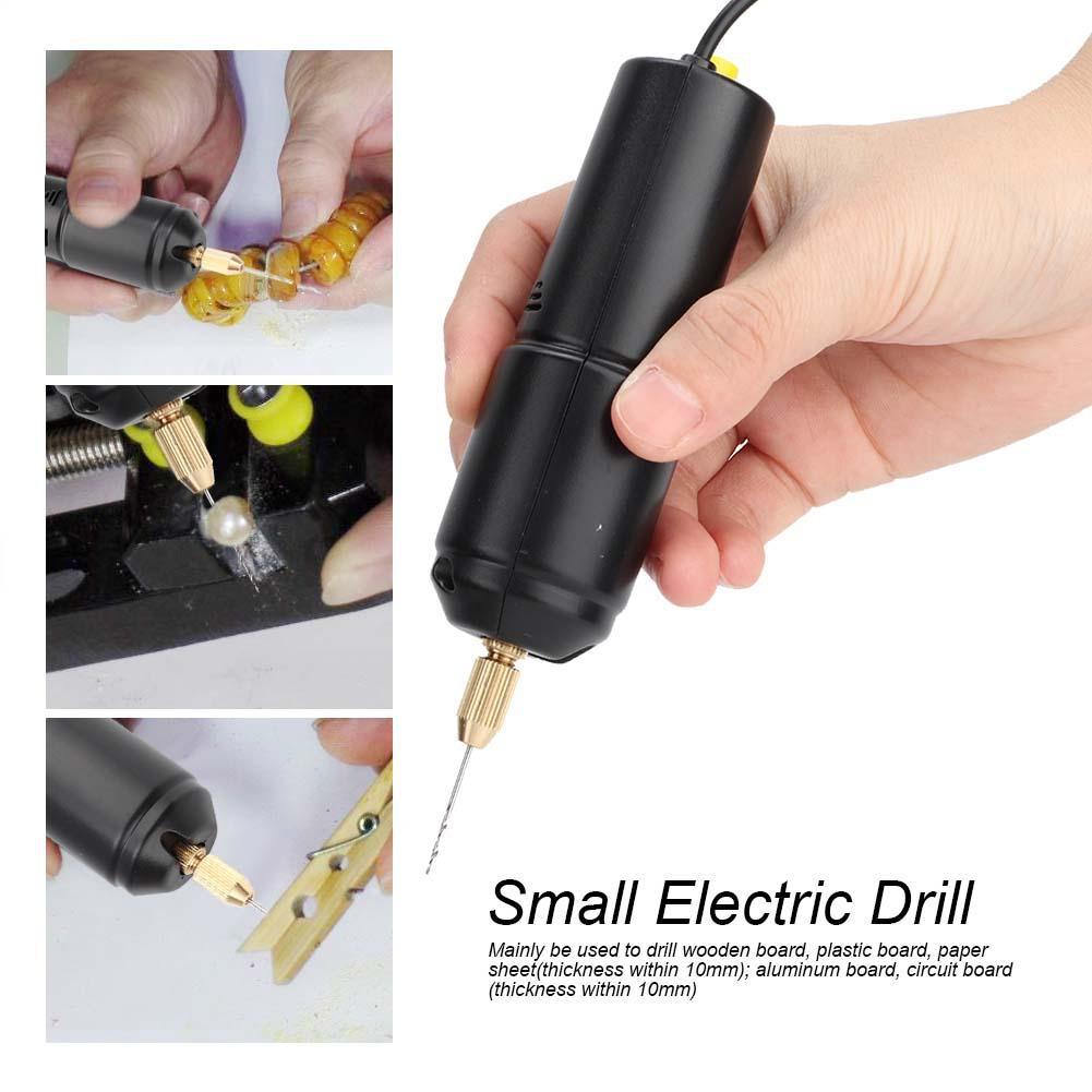 Máy khoan điện mini cầm tay với 3 đầu mũi khoan