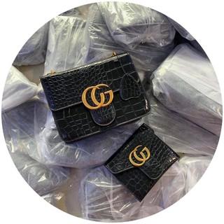 Set túi GG kèm ví siêu sang túi xách nữ dây xích kèm ví giá rẻ TXGGVI 299k sale còn 199k+ hình tự chụp