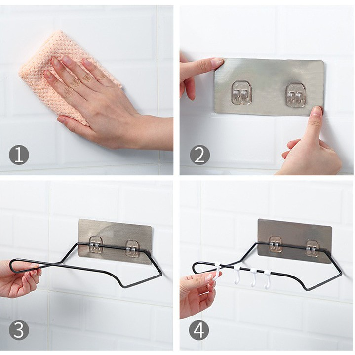 (Hoàn$) Giá gác chậu nhà tắm chắc chắn gấp lên khi không cần dùng (STIHN)
