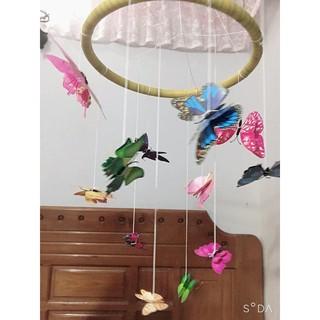 Bộ treo nôi bướm lượn 2 tầng cánh montessori đa diện