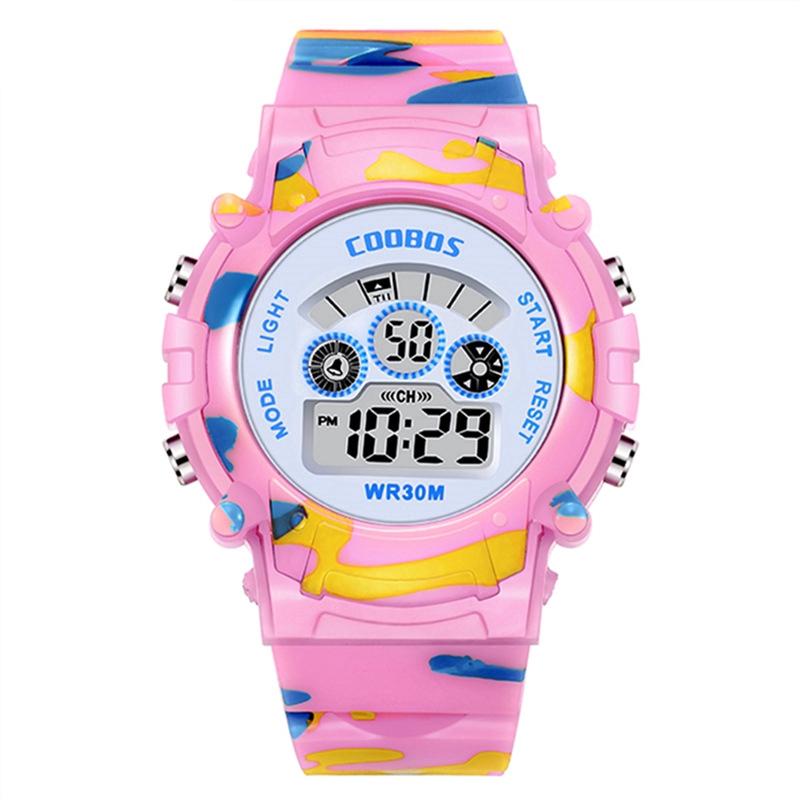 Ready Stock Coolboss Kids Sports Kids Watches LED Digital Waterproof Wristwatch School Gifts