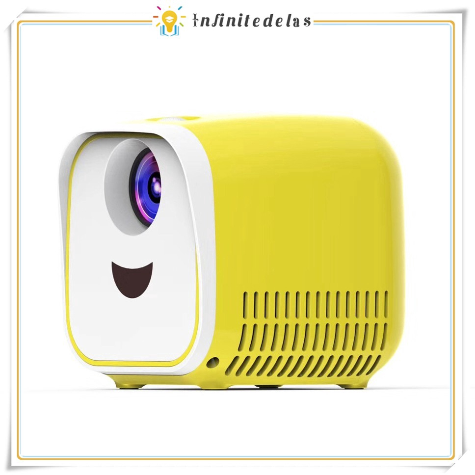 INFINITE L1 Portable Mini 320P LED Projector Children Kids Gift Toy – Yellow Giá chỉ 1.198.012₫