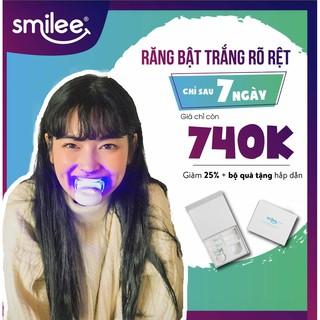 Bộ tẩy trắng răng tại nhà an toàn tiện lợi Smilee – Hàng nhập khẩu USA – Làm trắng răng, loại bỏ mảng bám, cao răng