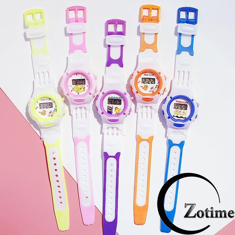 Đồng hồ điện tử Dotime đeo tay trẻ em thiết kế dây nhựa cực đẹp ZO81