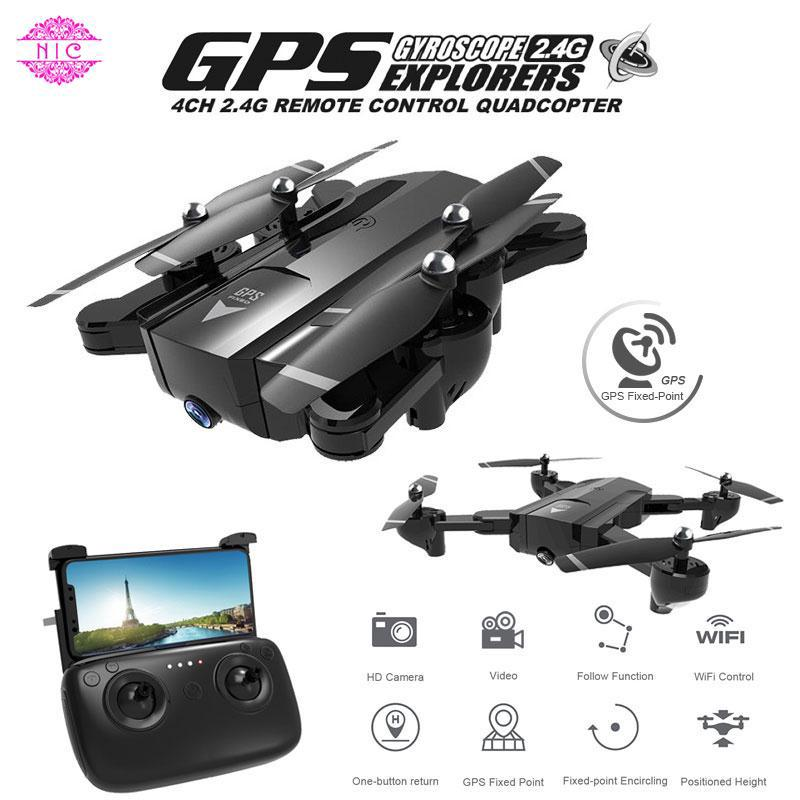 NIC GPS 720P Camera RC Drone Follow Me Quadcopter 720P Camera Drone
