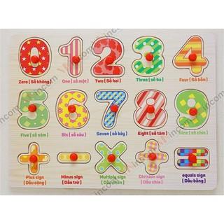 [RẺ NHẤT] – Bảng số cộng trừ nhân chia có núm cho bé