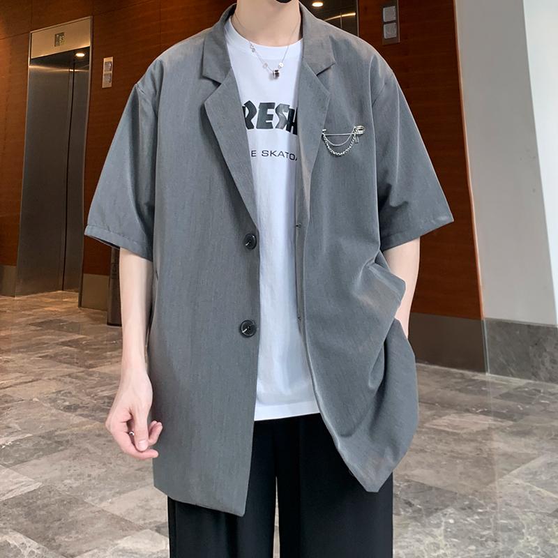 Áo Khoác Blazer Nam Chất Mỏng Tay Lỡ Size S-3XL Phong Cách Hàn Quốc