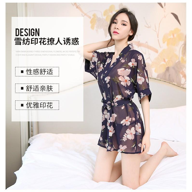 Váy ngủ sexy gợi cảm kèm áo choàng và chip - Váy ngủ kèm áo choàng quyến rũ – Váy ngủ sexy – Váy ngủ cao cấp G19