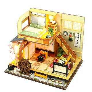 Mô hình nhà gỗ lắp ráp búp bê DIY – kèm mica – M034 Kaizuizawa's Forest Holiday