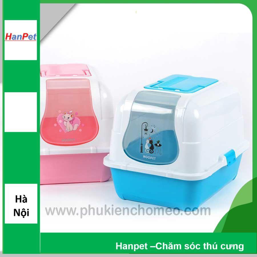 HN-Nhà vệ sinh cho mèo có lọc khí (KT 47x36 cao 39cm) (hanpet 4711825) nha ve sinh meo / khay dung cat meo /
