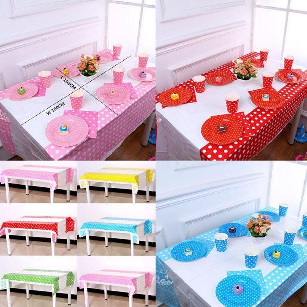 Khăn trải bàn nilon tráng trí tiệc sinh nhật