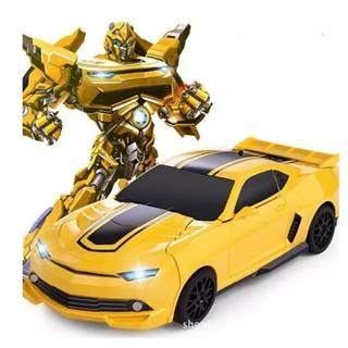 Đồ chơi Siêu Xe ô tô biến hình thành Robot có nhạc (Vàng)