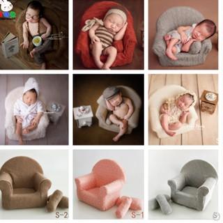 Ghế ngồi sofa sơ sinh hình trăng tròn kèm 2 gối nhỏ đạo cụ chụp ảnh baby 2019 mới cho bé