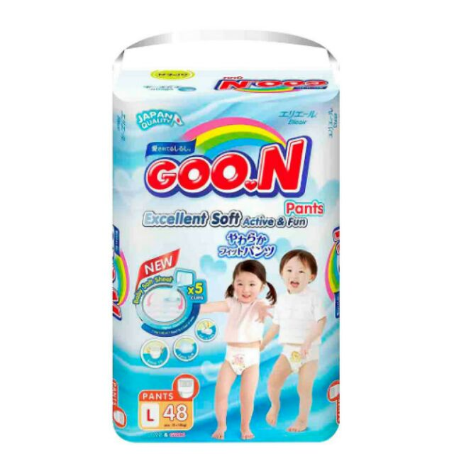 Bỉm quần Goon Thái Renew Slim L48 (Nguyên bao bì)