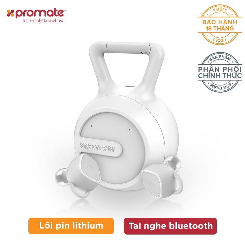 Tai nghe Bluetooth Earbuds Promate TrueBlue-2 kèm Ốp sạc (Trắng)