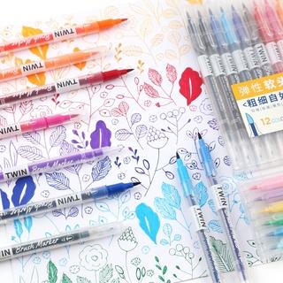 Hình ảnh Winzige Brush Pen Bút lông thiết kế 2 đầu viết hoặc vẽ-3