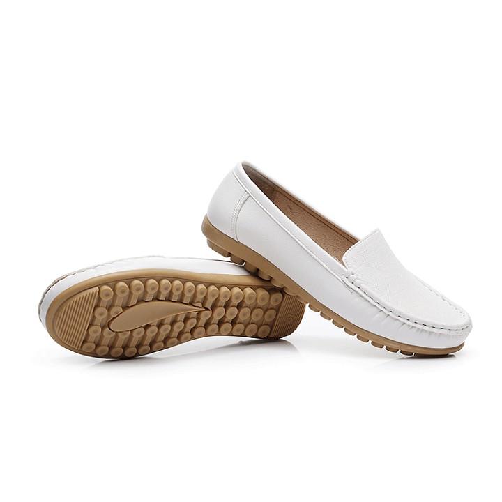 Giày búp bê nữ da mềm đế tăng 2cm êm chân SP46