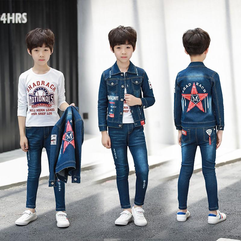 set áo thun tay dài & quần jeans dài cho bé trai & gái - 14012455 , 2721646233 , 322_2721646233 , 538800 , set-ao-thun-tay-dai-quan-jeans-dai-cho-be-trai-gai-322_2721646233 , shopee.vn , set áo thun tay dài & quần jeans dài cho bé trai & gái
