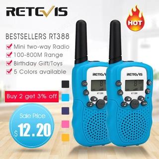 1 pair RETEVIS RT388 Kids Walkie Talkie Walkie Talkies 2pcs Mini Two Way Radio Station PMR Gift for Kids / Family Use / Camping 100 800M | walkie talk
